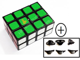 mf8 Full Function 2x3x4 Cube Black Body with bandaged mechanism & spare split edge(x3)
