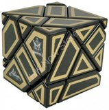 Ghost Cube with hollow label (Gold)