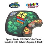 Speed Stacks GX EDGE Cube Timer bundled with Calvin's Square-1 Black