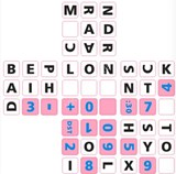 3x3x3 Pink Time Zone Sticker Stickers set
