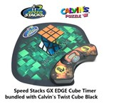 Speed Stacks GX EDGE Cube Timer bundled with Calvin's Twist Cube Black