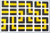 2x2x2 PVC Black-Base Maze Stickers Set