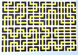 4x4x4 PVC Black-Base Maze Stickers Set