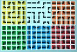 5x5x5 PVC 6 color Maze Stickers Set