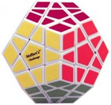 New Improved 12 color Megaminx For Speed-cubing White Body, in POLY BAG