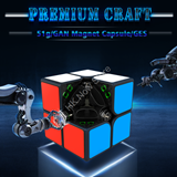 Gans GAN251M 2x2x2 (Magnetic) Speed Cube Black Body (stickered)