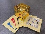 Official Latch Cube Metallized Gold from Japan (Assembled & Stickered)
