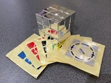 Official Latch Cube Metallized Silver from Japan (Assembled & Stickered)