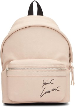 SAINT LAURENT CITY MINI LOGO EMBROIDERED BACKPACK