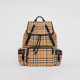 BURBERRY VINTAGE RAINBOW CHECK BACKPACK